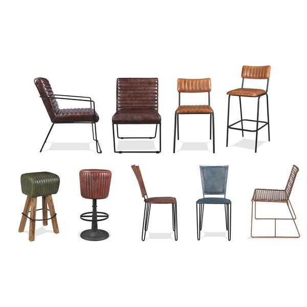Admirable Mix N Match Chairs Vertical Tufted Leather Bar Stool Gmtry Best Dining Table And Chair Ideas Images Gmtryco